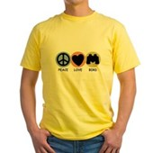 Peace Love Bird Yellow T-Shirt