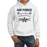 Air Force Grandchild defending Hooded Sweatshirt