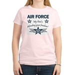 Air Force Dad defending Women's Pink T-Shirt
