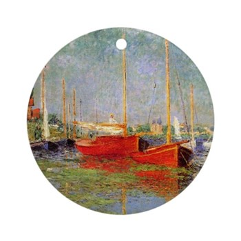 Argenteuil by Monet Round Ornament