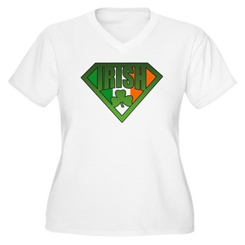 Super Irishman Women's Plus Size V-Neck T-Shirt
