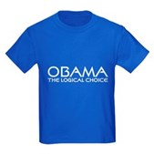 Obama: The Logical Choice Kids Dark T-Shirt