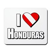  Scuba: I Love Honduras Mousepad