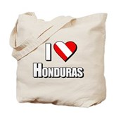  Scuba: I Love Honduras Tote Bag