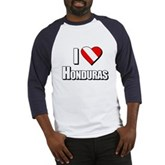  Scuba: I Love Honduras Baseball Jersey