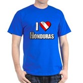 Scuba: I Love Honduras Dark T-Shirt