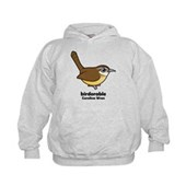 Birdorable Carolina Wren Kids Hoodie