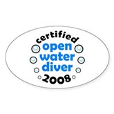 Open Water Diver 2008 Oval Sticker