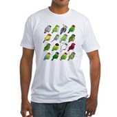 16 Birdorable Parrots Fitted T-Shirt