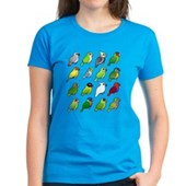 16 Birdorable Parrots Women's Dark T-Shirt