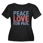 Peace Love Ron Paul Women's Plus Size Scoop Neck D