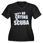 No Crying in Scuba Women's Plus Size V-Neck Dark T