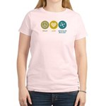 Women's Light T-Shirt : Sizes Small,Medium,Large,X-Large,2X-Large  Available colors: Light Blue,Light Yellow,Light Pink