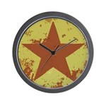 Rusty Star Wall Clock