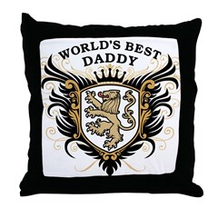 World's Best Daddy Throw Pillow