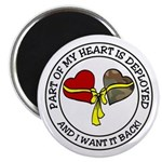 Part of my Heart is Deployed - Military Magnet