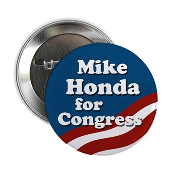 Mike Honda for Congress collectible pinback button
