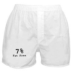 7% Fat Free T-Shirts & Gifts Boxer Shorts