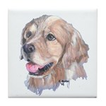 Golden Retriever (white) Tile Coaster