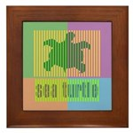 Bar Code Turtle Framed Tile
