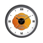 Fire Captain Wall Clock
