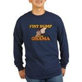 Fist Bump for Obama Long Sleeve Dark T-Shirt