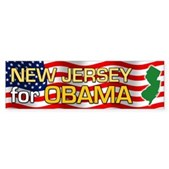 New Jersey for Obama Bumper Sticker