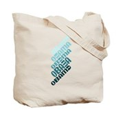Stacked Obama Blue Tote Bag
