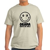 Obama Makes Me Smile Light T-Shirt