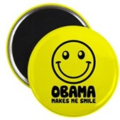 Obama Makes Me Smile Magnet