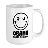 Obama Makes Me Smile Large Mug