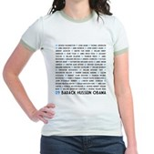 All Presidents up to Obama Jr. Ringer T-Shirt