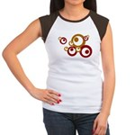 Retro Orange Circles Women's Cap Sleeve T-Shirt