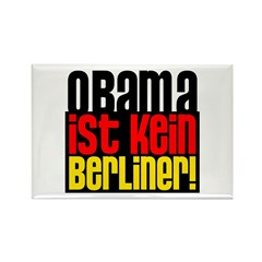 Obama Ist Kein Berliner! Rectangle Magnet