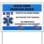 EMT Rescue Squad Recruitment Sign
