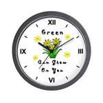 Earth Day Go Green Wall Clock