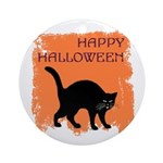 Black Cat Halloween Ornament