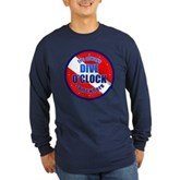 Dive O'Clock Somewhere Long Sleeve Dark T-Shirt