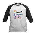 I Am Someone with Autism Kids Baseball Jersey