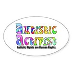 Autistic Activist v1 Sticker (Oval)