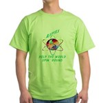 Aspies Spin the World Green T-Shirt