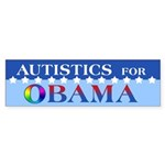 Autistics for Obama Sticker (Bumper 10 pk)