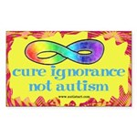 Cure Ignorance Sticker (Rectangle 50 pk)