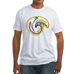 Cure Ignorance (Rainbow) Fitted T-Shirt