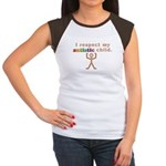 I Respect My Autistic Child Women's Cap Sleeve T-S