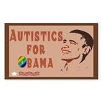 Autistics for Obama Sticker (Rectangle)