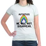 We Will Not Disappear Jr. Ringer T-Shirt