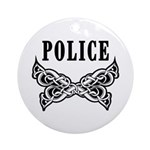 Police Tattoo Ornament (Round)