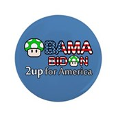Support the Obama-Biden ticket in 2008 & give America 2 green mushrooms to power-up! This cute Obama-Biden design is great for video game enthusiasts. A vote for Obama-Biden = 2up for America!