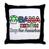 2up for America Throw Pillow